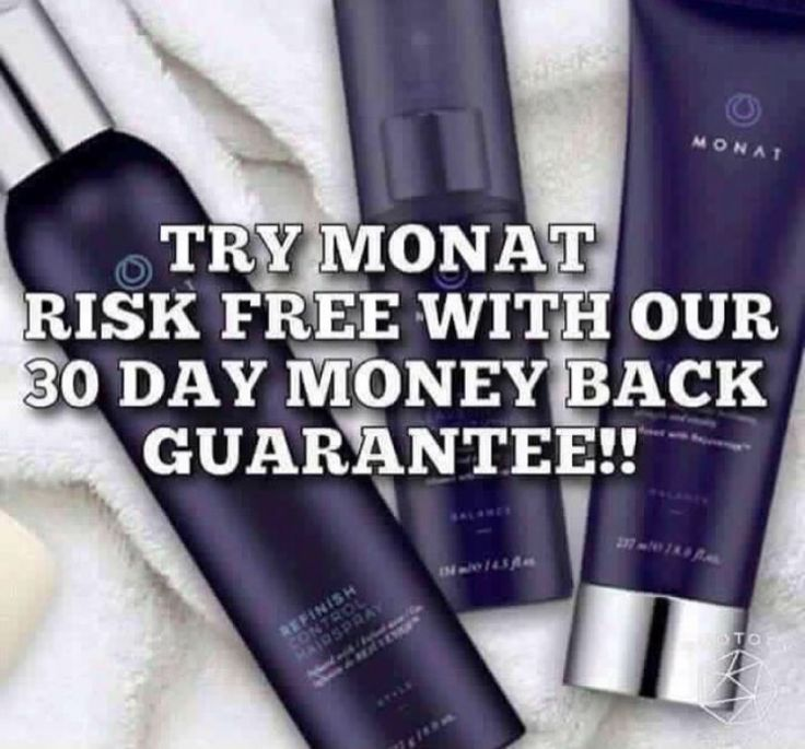 MONAT offers a 30 day money back guarantee!! Even if that bottle is empty!! Get with me and let's get you started today!!