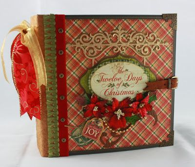"Fabulous mini! Lots of ideas for page treatments! Monkeydreamz: Tales of a Paper Addict: 8""x8"" ""12 Days of Christmas"" Mini-Album"