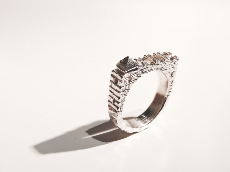 Watchtower ring by StudioContinuum on Etsy https://www.etsy.com/au/listing/269370051/watchtower-ring