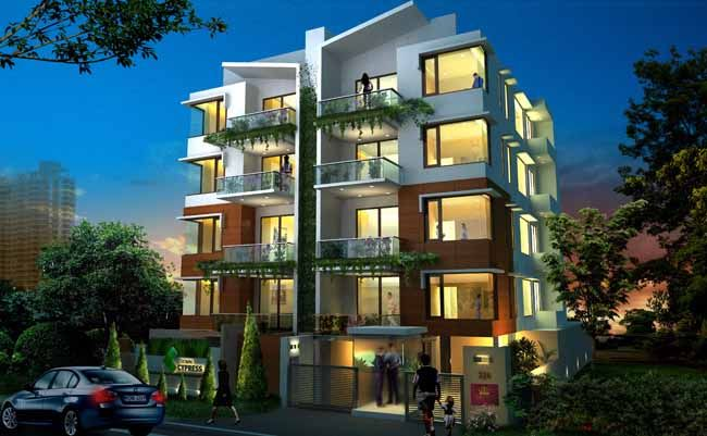 Crown Cypress, 3BHK Apartments sale off Koramangala 1st Block, Bangalore, Located in the very heart of the most sought after residential