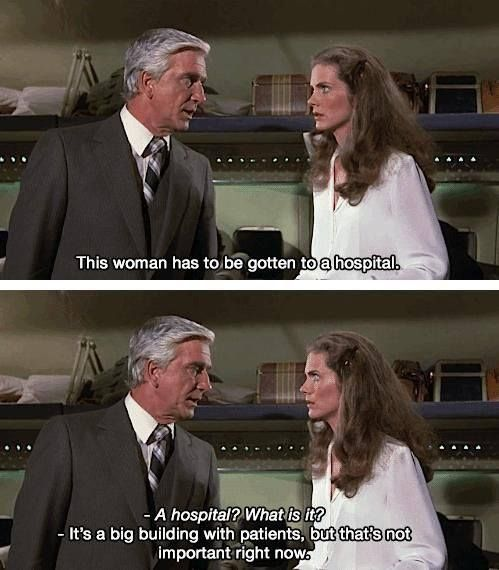 Airplane Quotes: Airplane Funny Quote: A Hospital? What Is It?