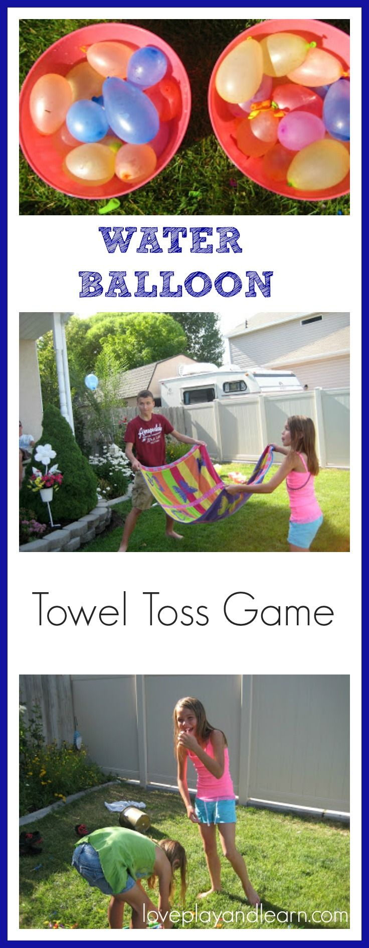 1000 ideas about water balloon games on pinterest for Balloon party games