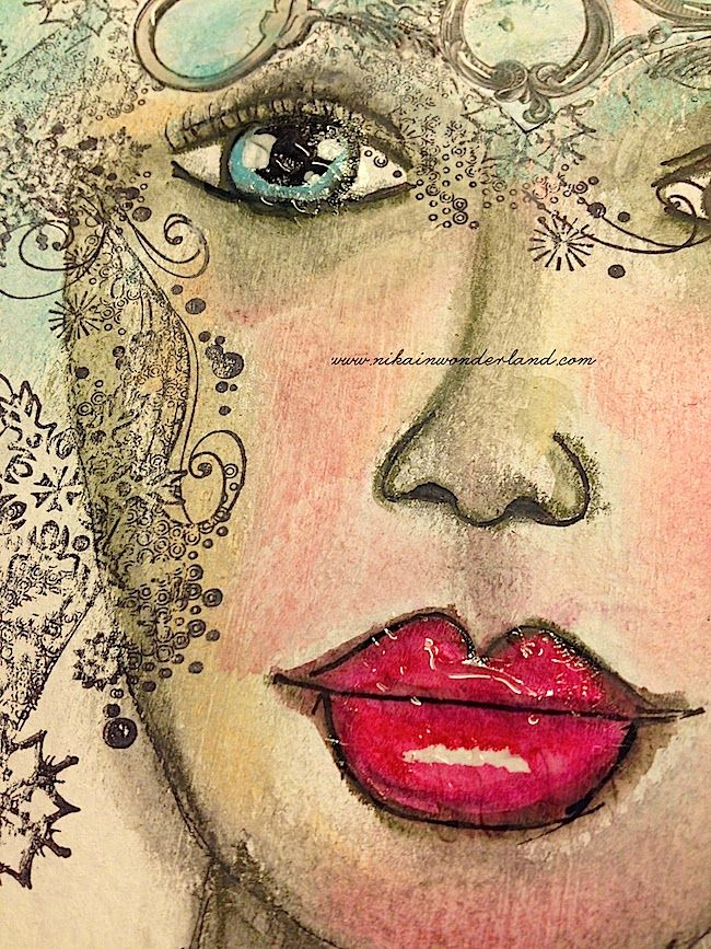ART JOURNAL PAGE | OUT OF THE WAY | Nika In Wonderland Art Journaling and Mixed Media Tutorials