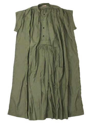 kapital olive green double pin tuck tunic