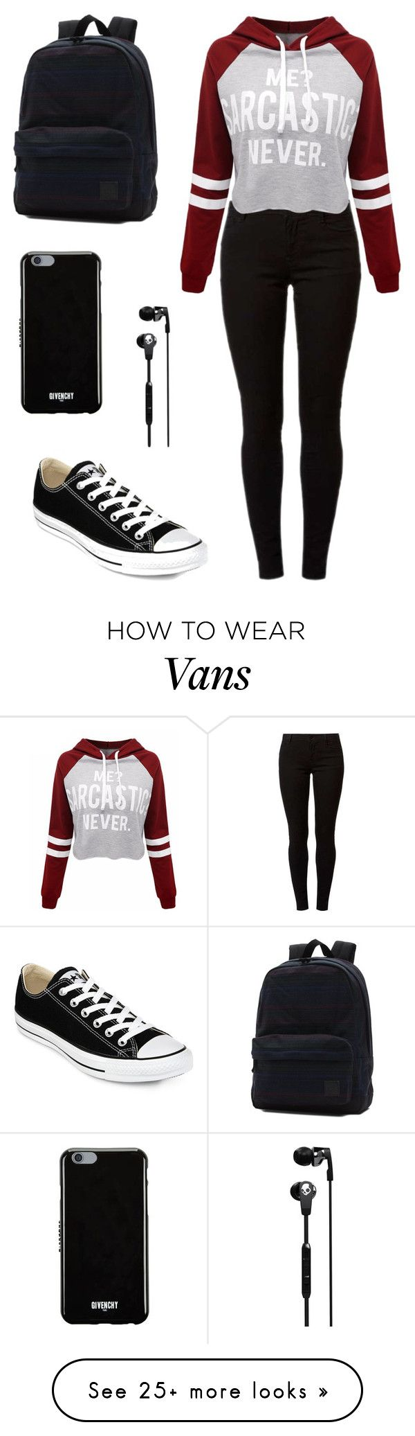 """Untitled #5"" by amela-ella-hodzic on Polyvore featuring Dorothy Perkins, WithChic, Converse, Vans, Skullcandy and Givenchy"