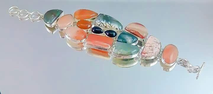 Orlov Jewellery-German silver,agat,jad,nefrit,rodocrozit,jasp