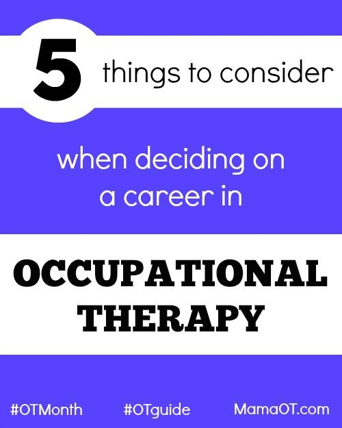 5 helpful things to consider when deciding on a career in occupational therapy! #OTguide #OTMonth