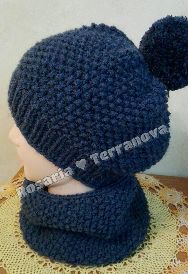 Le passioni di Sara  Come realizzare un cappello da bambino a e girocollo  abbinato ai ferri circolari dd106d7a2cf0