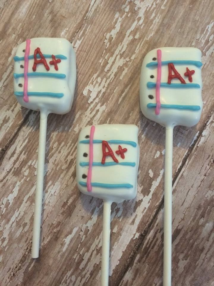 12 Notebook Paper Back to School Cake Pops Teachers Appreciation Open House Gift End of Year Favor Treats