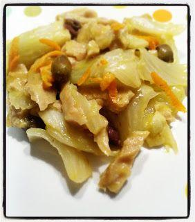 Seitan all'arancia con finocchi e olive taggiasche