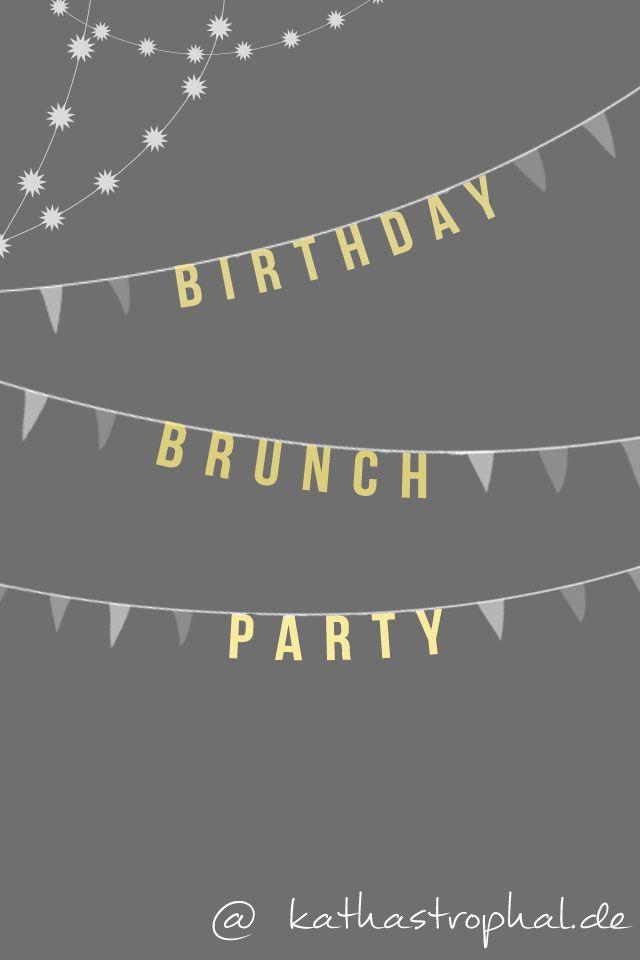 Birthday Brunch Party