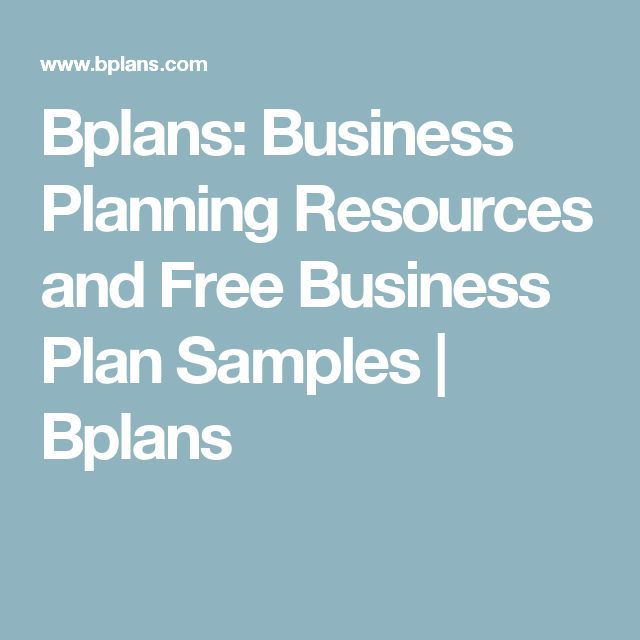 Bplans: Business Planning Resources and Free Business Plan Samples             | Bplans