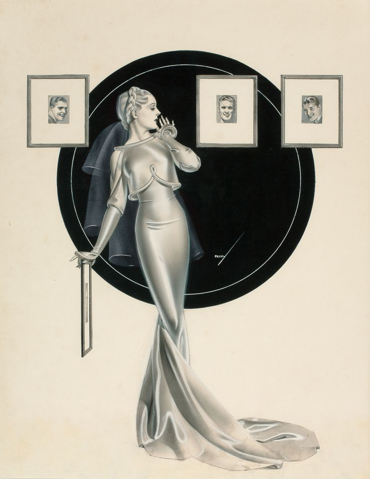 Pin-Up Illustration by George Petty