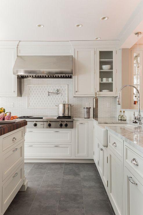creamy white cabinets paired with supreme white quartzite rh pinterest com