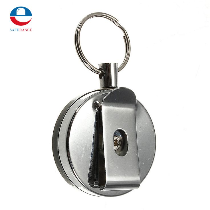 NEW 5 pcs High Quality Stainless Steel Tool Belt Money Retractable Key Chain Clip Key Finder Anti-lost Personal Safely Security