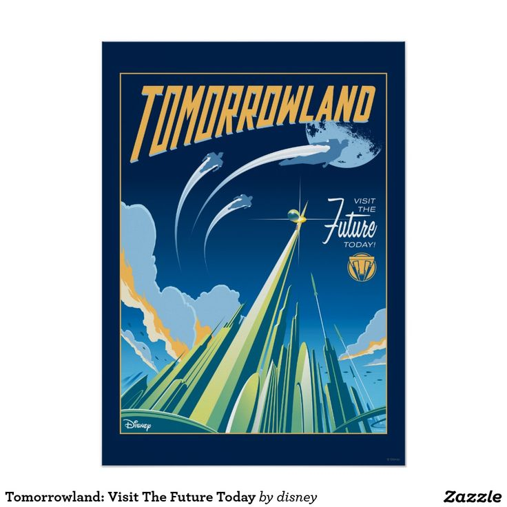 Disney's Tomorrowland poster unearths the secrets of an enigmatic place somewhere in time and space that exists in the collective memory as Tomorrowland. #cute #vintage