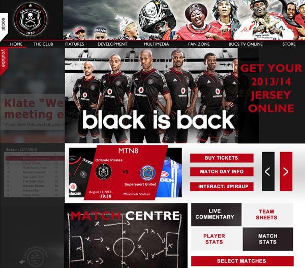 Orlando Pirates - A Conceptual Design  Match Centre Panel