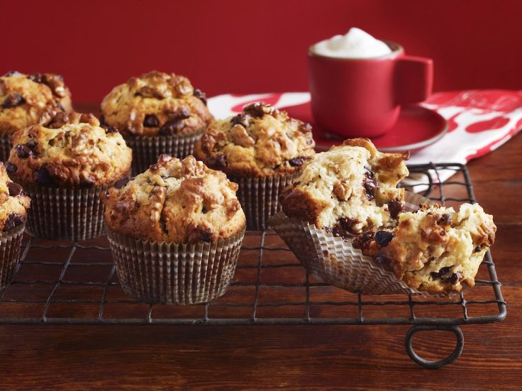 Easy chocolate chip and walnut muffin recipe that you can whip up for breakfast or snack anytime!