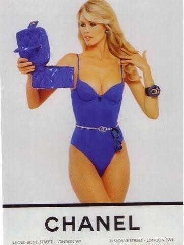 Claudia Schiffer in 90's #Chanel ad