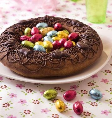 Gâteau nid de pâques - recette de dessert pour votre repas de Pâques