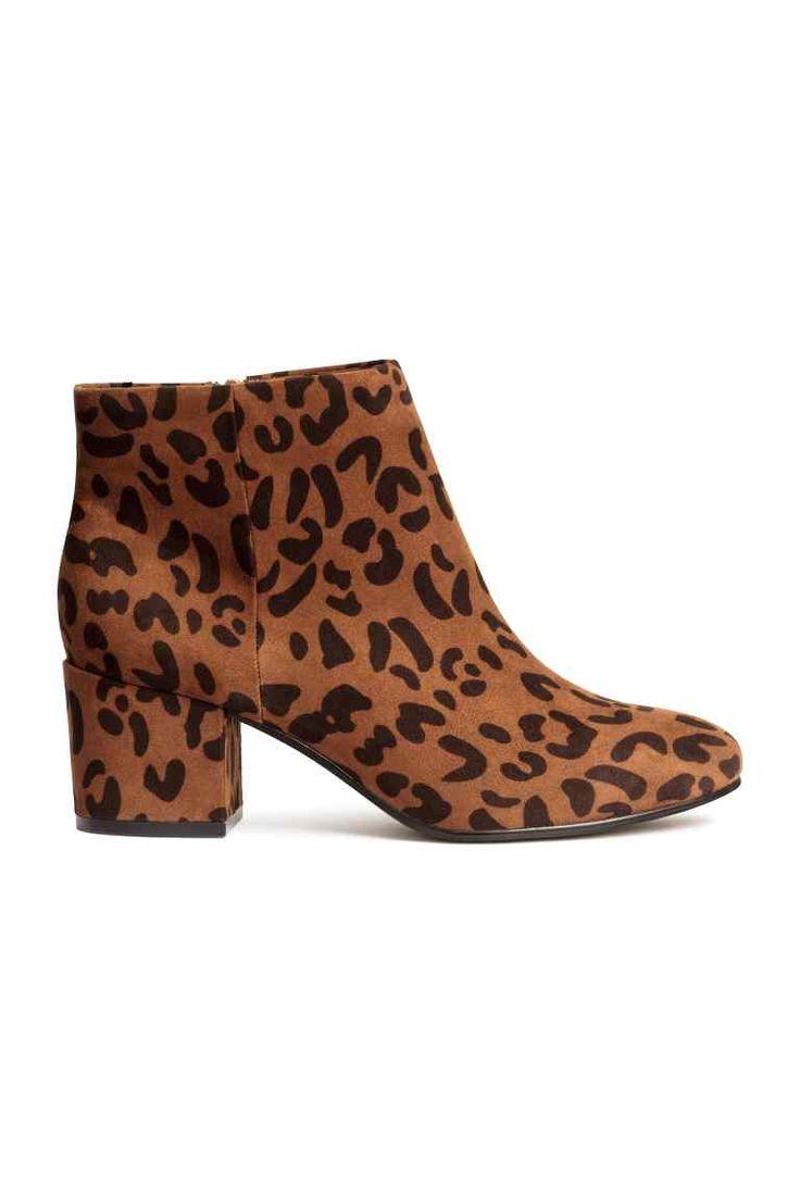 Bottines à motif léopard