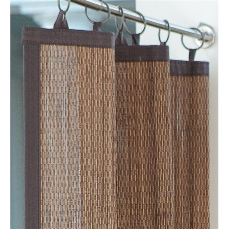 Outdoor bamboo curtain panel 40 w x 63 l collection Bamboo screens for outdoors