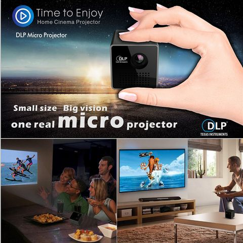 GOGO MICRO DLP Projector Portable WIFI Wireless Mobile Projector connect to smartphone,tablet pc,iphone/ipad