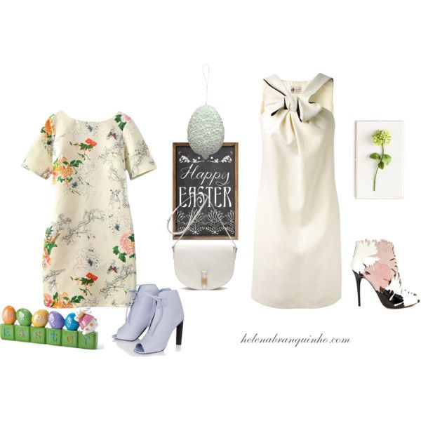 Happy Easter by helenabranquinho on Polyvore featuring moda, Lanvin, Alexander McQueen, Mulberry, Tommy Mitchell, GreenGate, Easter and helenabranquinho