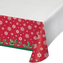 Nostalgic Santa Printed Plastic Table Covers 12 Ct Kids