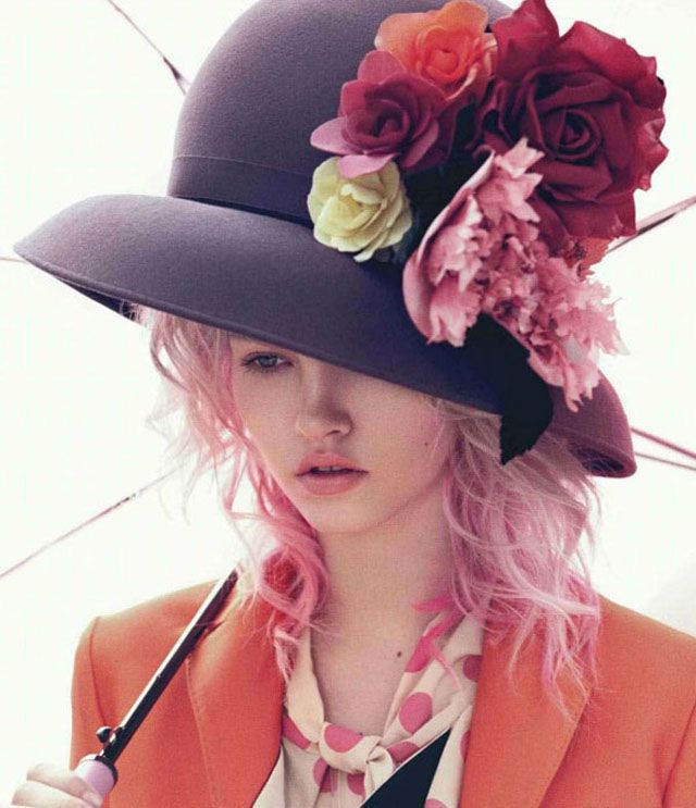 .: Charlotte Free, Flowers Hats, Pink Hair, Mad Hatters, Paul Schmidt, Pierre Cardinals, Derby Hats, Gardens Parties, Black Hats
