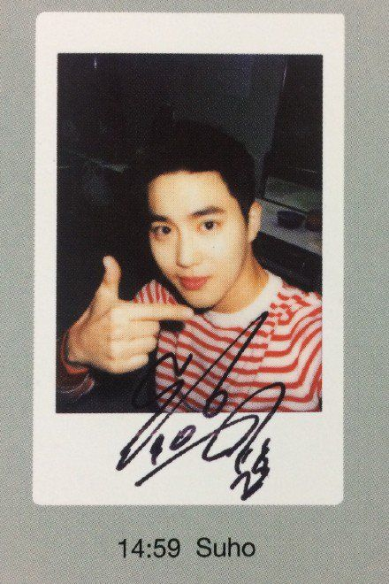 Suho - EXO-L Japan offical book - polaroid (cr night_in-day)