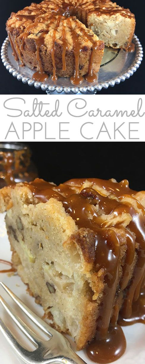 This moist made-from-scratch Salted Caramel Apple Cake is packed with fresh apples and real ingredients. You'll be surprised how easy it is to make.