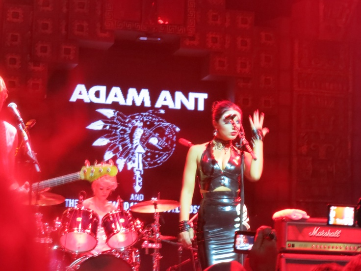 Georgina Baillie with Adam Ant - Live at the Mayan theater, LA, 9-13-2012