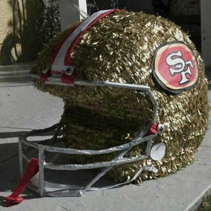 foto de SAN FRANCISCO 49ers HELMET PINATA 49ers birthday party Football party decorations Minnie party