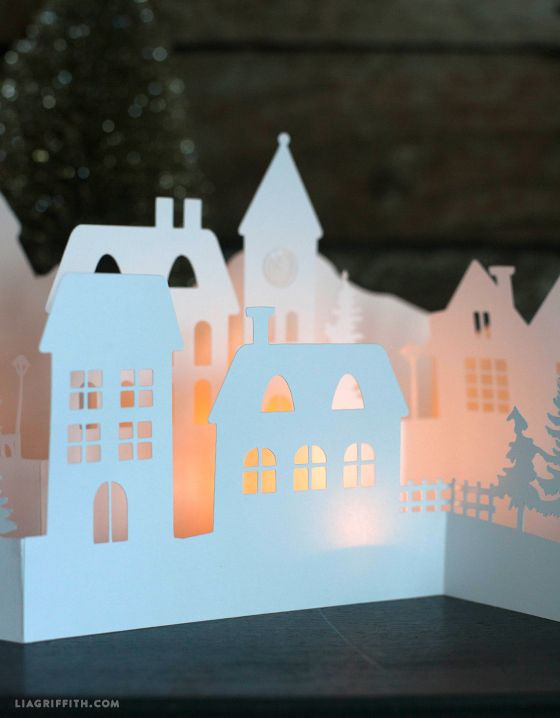 Paper Cut Winter Village for Your Holiday Decorations