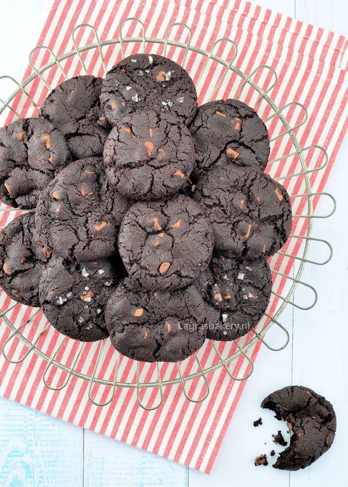Zachte chocoladekoeken (met zeezout) - Laura's Bakery