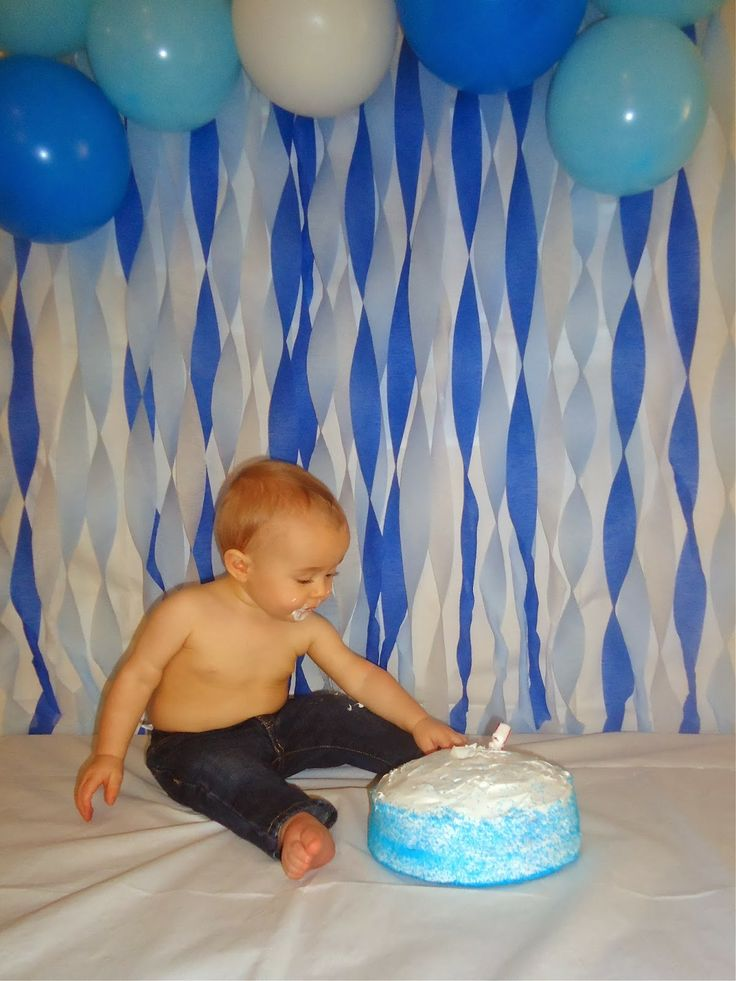 How I did my sons 1st year cake smash...on my own!