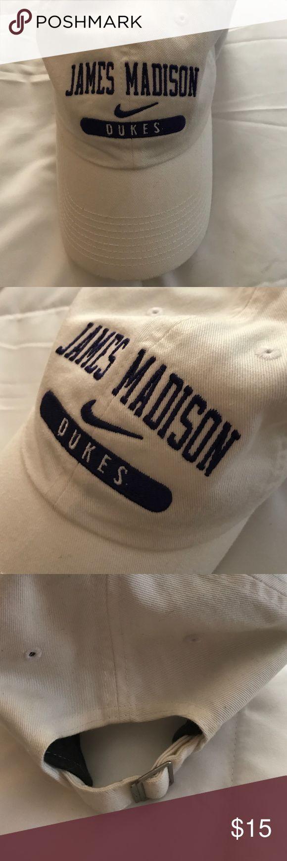 James Madison University Nike Hat purple stitched writing. good condition Nike Accessories Hats
