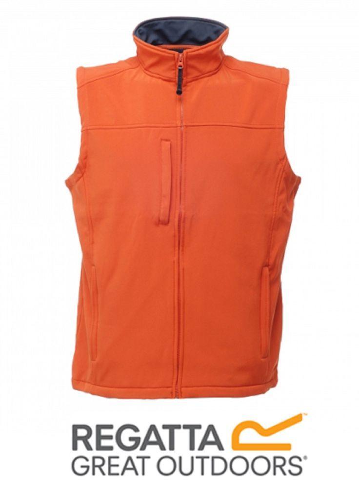 Regatta Flux Mens Lightweight Warm Backed WaterRepellent Wind Resistant OrangeXS #Regatta