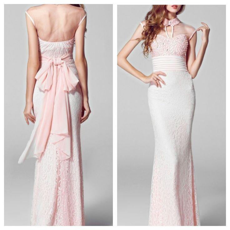 CLEARANCE on:  OVENCE Slim Lace Beaded Sheer Prom Dress @ $94.99   #personalstylist #personalshopper #onlineshopping #womensfashion #wardrobestyling #promdress #