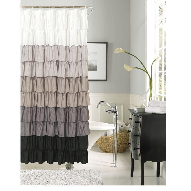 25 best ideas about ruffle shower curtains on pinterest girl bathroom ideas girl bathroom - Waves of ruffles shower curtain ...