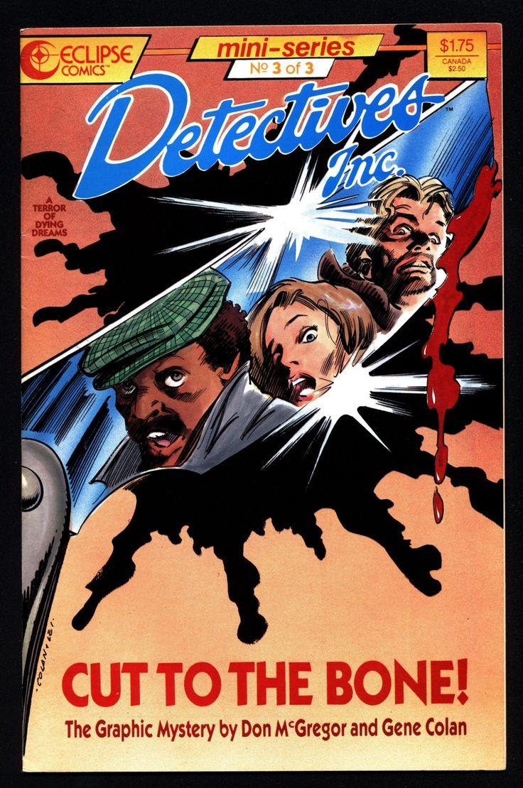 DETECTIVES Inc Don McGregor Gene Colan eclipse comics Mini Series 3 0f 3 Crime Mystery Hardboiled Noir Alternative Comic