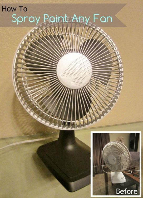How to Spray Paint Any Old Fan