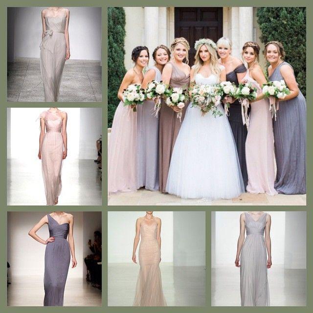 Ashley Tisdale's bridesmaid colour palette