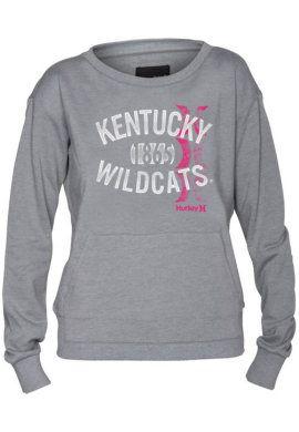 ACTION CUSTOM SPORTSWEAR : University of Kentucky Wildcats Women's Slimfit Fleece : University of Kentucky Bookstore : www.uky.bkstr.com