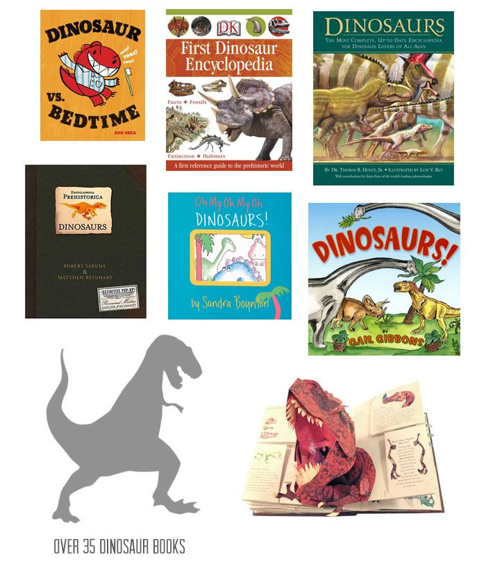 {35+ dinosaur books for kids} Roar. *Good mix of stories and reference books.