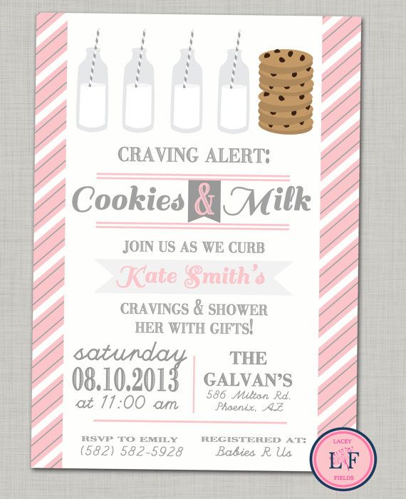 subway baby girl shower invitation printable cookies and milk baby shower funny baby shower