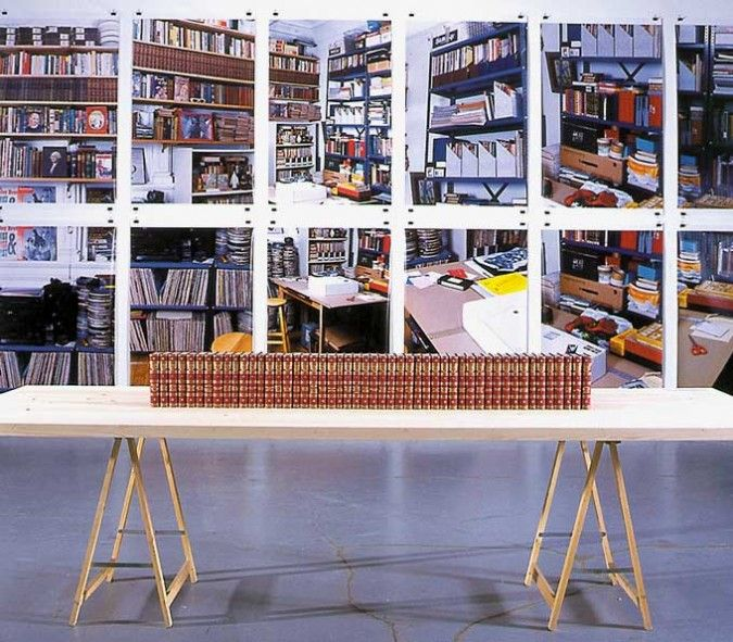 The new five foot shelf, Allen Ruppersberg, 1998-2001