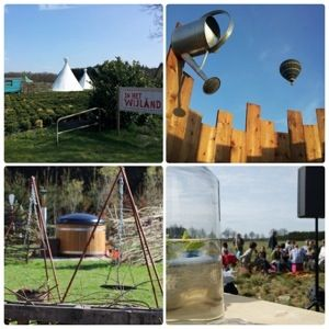 In Het Wijland bouwt ieder jaar de camping op een andere plek op, maar altijd in een weiland. Met pipowagen, tipi's, caravan en lekker eten....