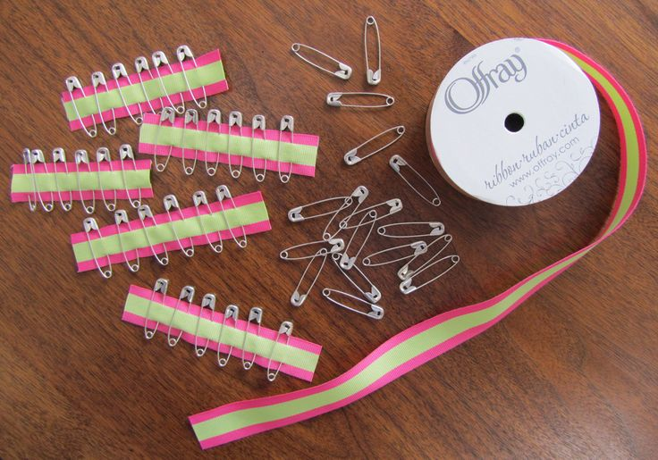 Everyone needs a safety pin once in a while! I give these to the older girls with sewing supplies. Pin them to strips of ribbon.